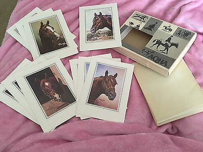 Vintage AQHA Foundation Stallion Stud Note Cards King Leo Wimpy Three Bars
