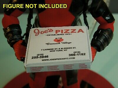 1/12 scale Custom Joes Pizza Box for Spiderman Peter Parker - Spiderman Customes
