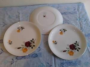 3 Rose Duet - Alfred Meakin dinner plates Evatt Belconnen Area Preview