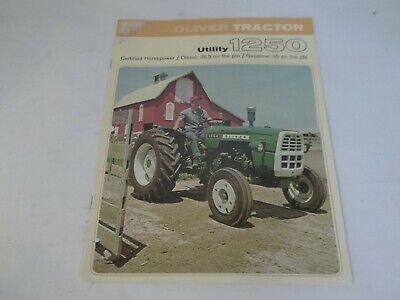 Oliver Utility 1250 Diesel Tractor Sales Brochure