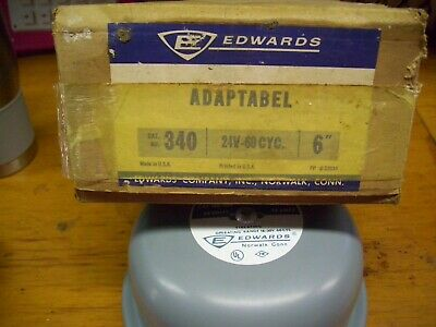 Edwards Adaptabel Cat No 340 Signal Bell Alarm Bell
