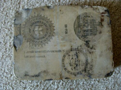 Antique Lithograph Stone Block Printing Independence Female College Missouri 188