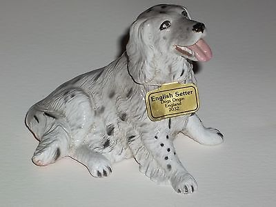 Vintage ENGLISH SETTER DOG Figurine Lifelike Breed ~made by New-Ray Toy