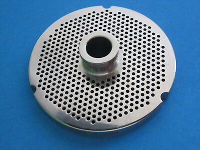 32 X 18 Meat Grinder Plate W Hub Stainless Fits Hobart Biro Lem More