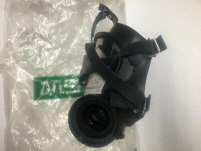 Msa Black Silicone Full Face-piece Respirator Gas Mask Medium