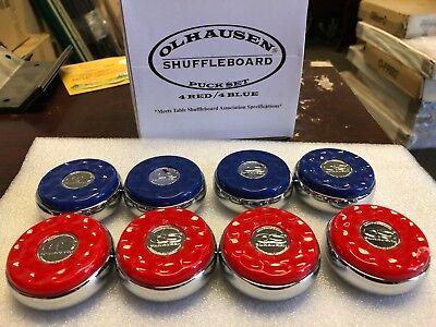 Olhausen Shuffleboard & Billiards Co- Pucks Set of 8 -Free shipping