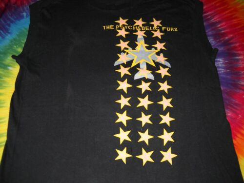 PSYCHEDELIC FURS THE WORLD TOUR 1984 CONCERT BLACK SLEEVELESS SHIRT-LARGE-NEW