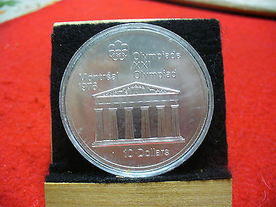 1976 MONTREAL OLYMPICS SILVER 10$ COIN CANADA  TEMPLE OF ZEUS   B.U.