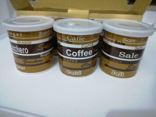 Tris Di Barattoli Sale Zucchero e Caffè