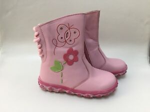 BNIB Toddler pink leather boots, size US 9