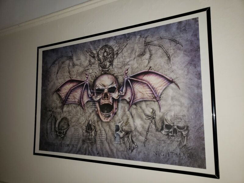 Avenged Sevenfold Book of Nightmares Nightmare Lithograph -Limited Edition RARE!