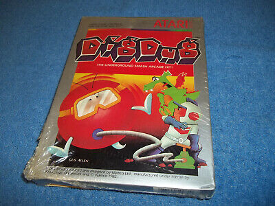 BRAND NEW ( NOS ) ATARI 2600 DIG DUG GAME IN FACTORY SEALED & S/W BOX 7800