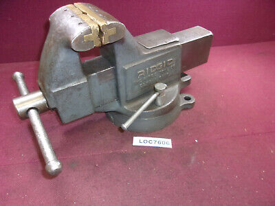 Ridgid 4 Wide Bench Vise 40sn Work Holding Swivel  Loc7606