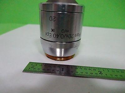 Microscope Polyvar Reichert Leica Objective Plan 20x Epi Dic Optics Binw3-09