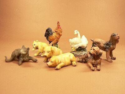 T030 Hoftiere 7 teilig für 13 bis 18 cm Krippenfiguren ()