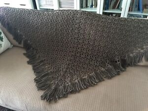 Hand-knit Shawl, multiple use