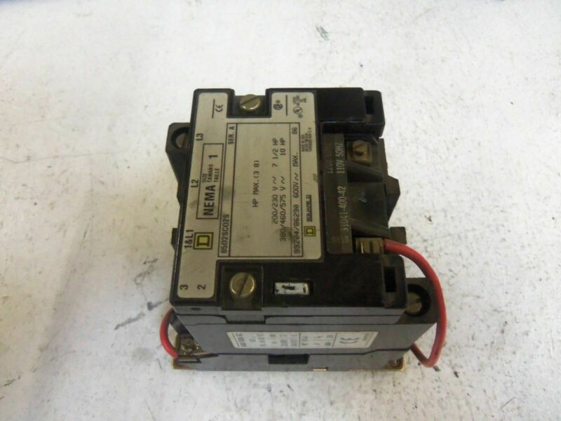 SQUARE D 8502SCO2S CONTACTOR *USED*