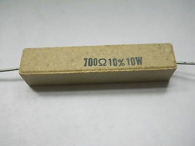 700 Ohm 10 Watt 10 Cement Power Resistor Nosnew Old Stockqty 10 Ead3