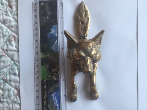 Vintage Brass Fox Head Door Knocker.