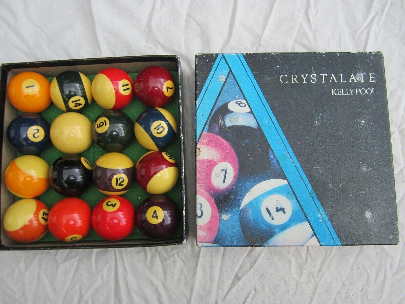 Set of Crystalate Pool Balls