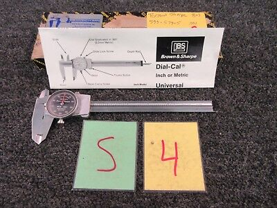 Brown Sharpe Dial Caliper Black Bezel 6 Inch 599-579-5 .001 Precision Tool G