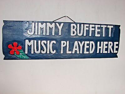 JIMMY BUFFET MUSIC CARVED  TIKI BAR WOOD SIGN TROPICAL PATIO HOME DECOR   - Patio Tiki Bar