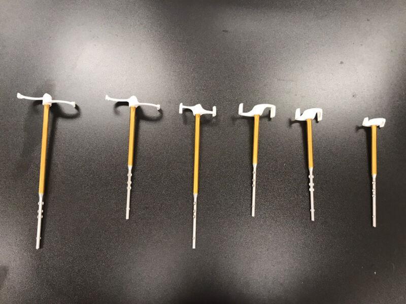 Lot Of 6 Used GAKO UNGUATOR TITANIUM SHAFT MIXING BLADES PCCA