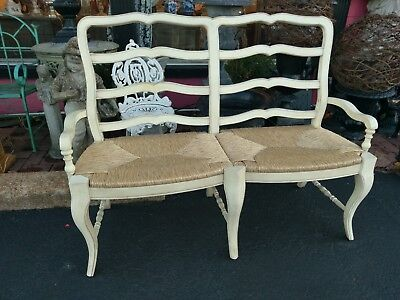 Country French Settee Sturdy   56 x 41 x 18 deep