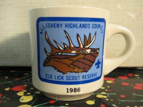 Allegheny Highlands Council BSA Boy Scouts Elk Lick Scout Reserve PA 1986 Mug