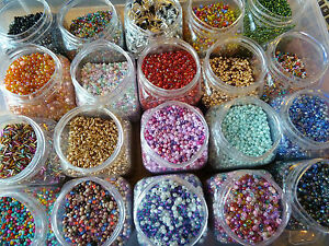 20 Bags 10g Mixed Seed & Bugle Jewellery Making Beads Mix of Colours & Sizes