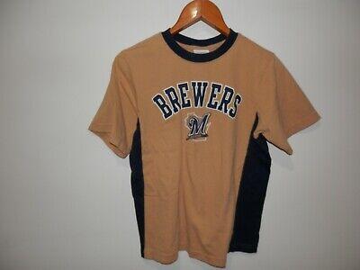 (Boys Genuine Merchandise Milwaukee Brewers T Shirt Size Youth 16-18 XL)