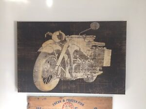 Motorcycle wrapped Canvas Art