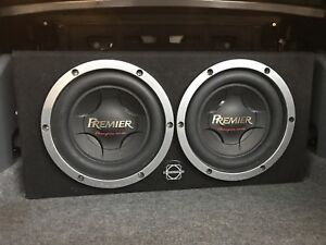 "2 10"" Subs In Box W Amp"