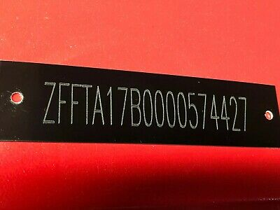Engraved Serial Tag Plate Car Hot Rod Trailer Truck Motor Cycle Black Plate