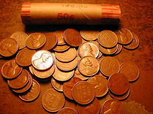 1956-D-LINCOLN-WHEAT-CENT-PENNY-ROLL-nice-condition
