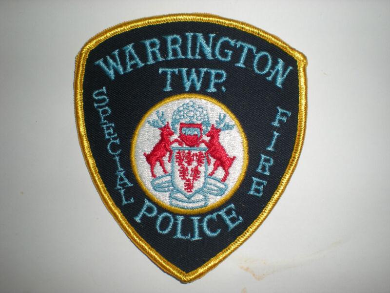 WARRINGTON, PENNSYLVANIA SPECIAL FIRE POLICE PATCH