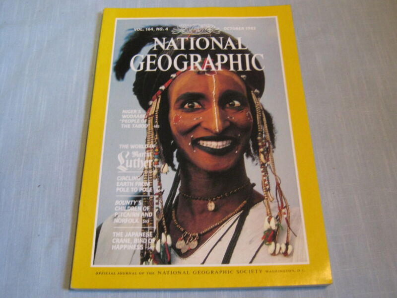NATIONAL GEOGRAPHIC October 1983 NIGER'S WODAABE Martin Luther World PITCAIRN