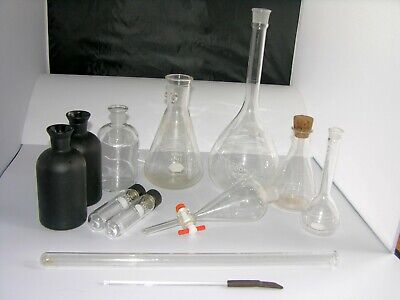 Vintage Science Chemistry - Lab Glassware Mixed Lot
