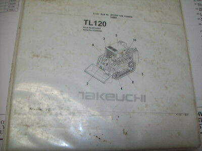 Takeuchi Tl120 Crawler Loader Parts Manual Sn 21200008 And Up