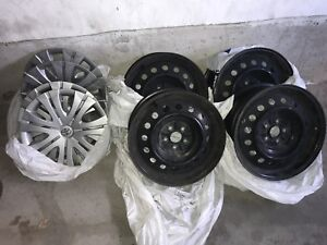4 Steel Rims with Hubcaps