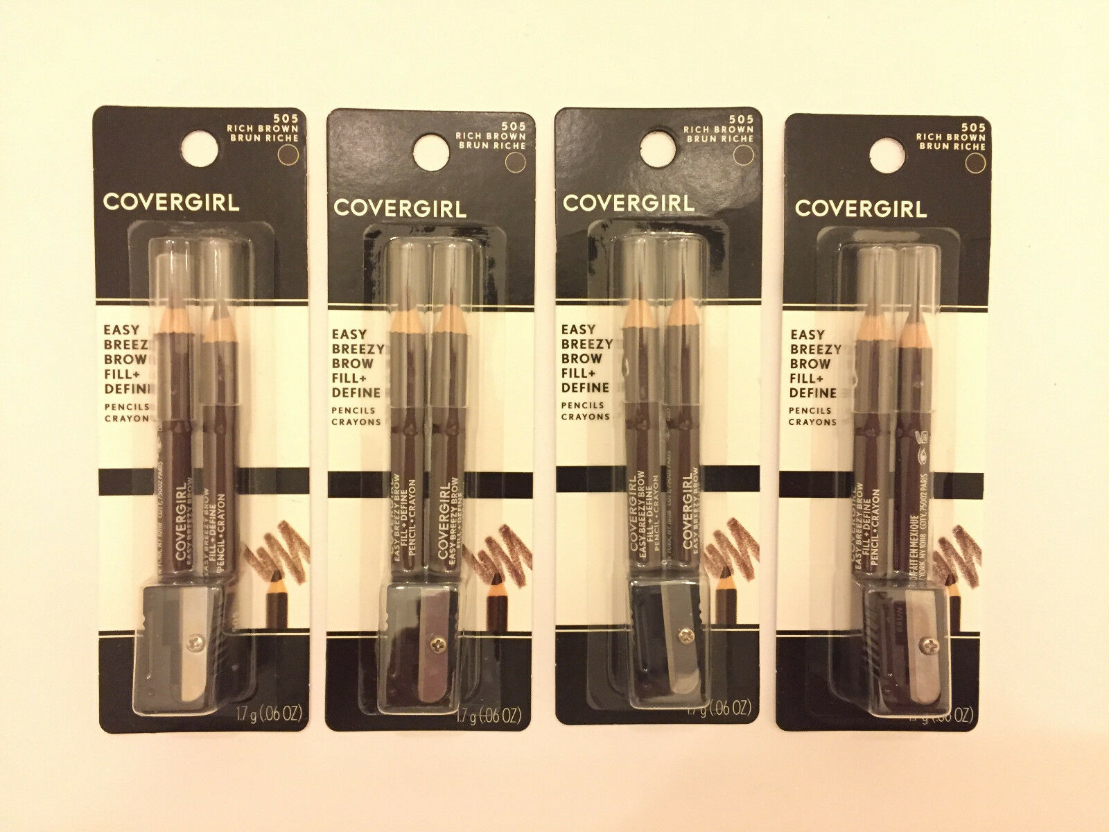 COVERGIRL Easy Breezy Brow Fill+Define Pencils,  Rich Brown,