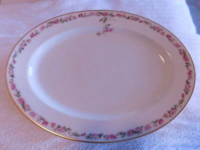 """HAVILAND~FRANCE~ H&Co, Schleiger 497a, Pink Rose Garland~THE AMSTEL~16"""" PLATTER"""