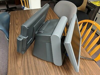 Panasonic Pos Workstation Js-950ws Touchscreen With Card Swipe Dual Monitor