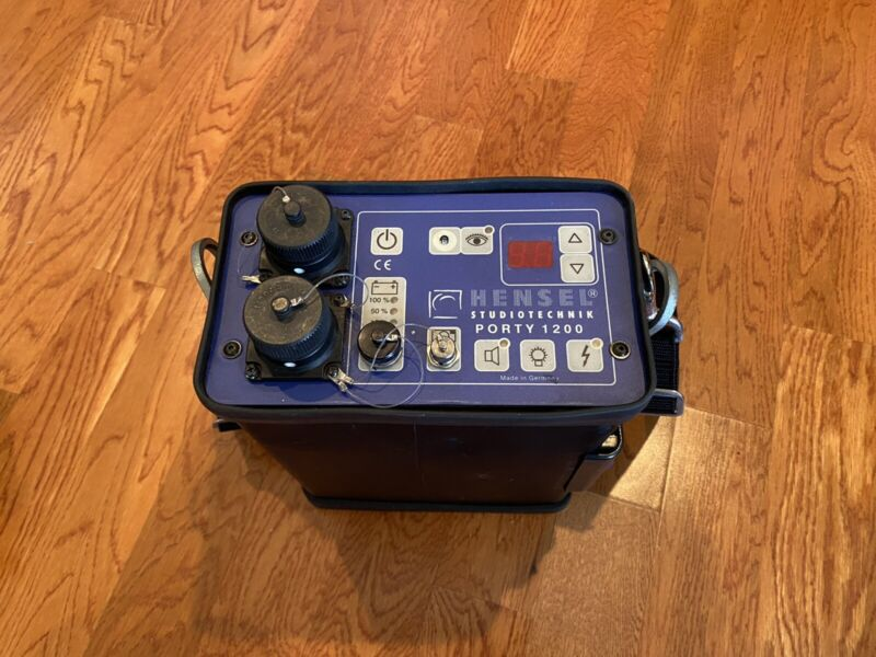 Hensel Porty 1200 Power Pack With 4 Battery Drawers 2 Chargers And 1 Sync Cord