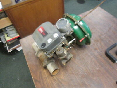 Baumann Control Valve W Positioner 24588s Body Size Nps Body Ratingch300 Used