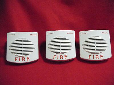 Simplex 4902-9717 White Speaker Fire Alarm Wall Mount Qty. 3