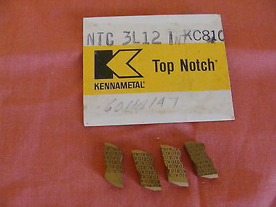 New Old Stock Kennametal Ntc3l12i Kc810 Carbide Threading Insert Lot Of 4