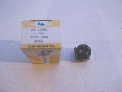 Cole Hersee 11063 4-pole socket interior, trailers, NOS!