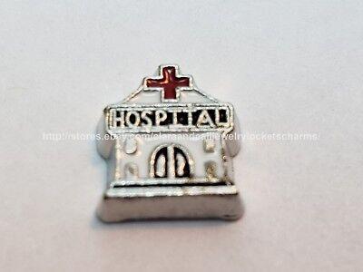 (Hospital Get Well Nurse Doctor Floating Charm for Memory Locket US seller fcm1)
