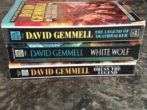 David Gemmell Druss the Legend Series lot of 3 Fantasy paperback